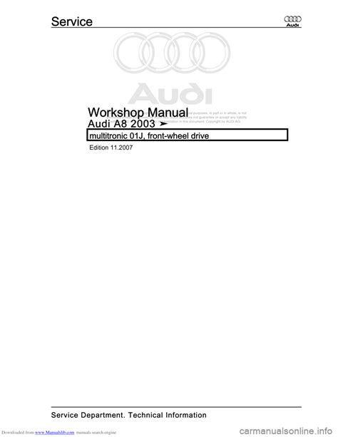 car maintenance manuals 2007 audi a8 engine control service manual online car repair manuals free 2003 audi a8 seat position control service