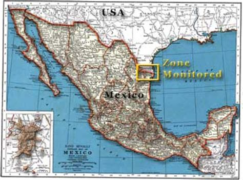 map of texas mexico border map showing the region where dickcissel calls are being monitored in