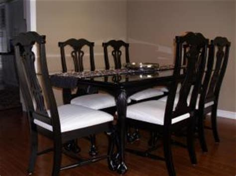 Painted Dining Room Furniture by Pat Jim Tennant Painted Diningroom Furniture Cobourg