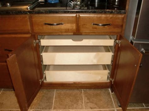 how to make pull out drawers in kitchen cabinets kitchen cabinets with pull out drawers new interior