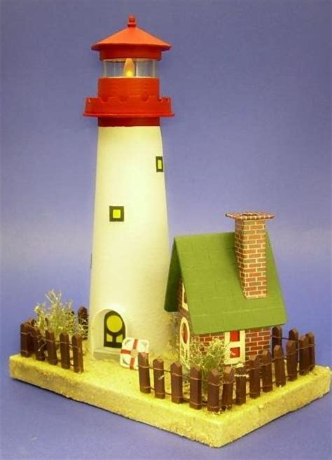 templates for lighthouse and beach house paper cardboard