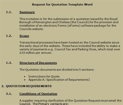 Get Request For Quotation Template Word Projectemplates Request For Quote Email Template