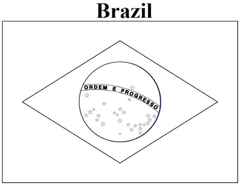 Flag Of Brazil Coloring Page geography brazil flag coloring page