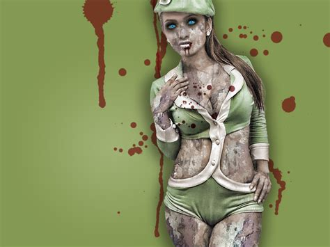 Hot Zombie Girl Wallpaper | scary wallpaper sexy zombie part 2 scary wallpapers