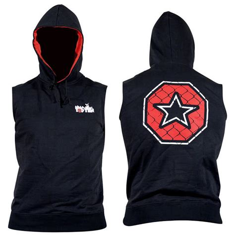 Sleeveless Hoodie Mma Fitness Fightmerch nicopiasport topten mma sleeveless hoodie black
