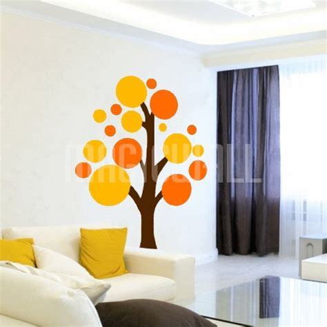 Coloured Circle Wall Stickers