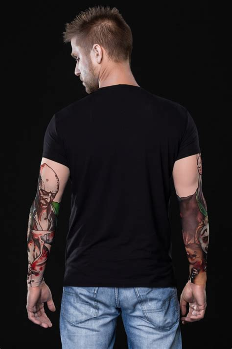 tattoo t shirts for men t shirt for with mesh sleeves