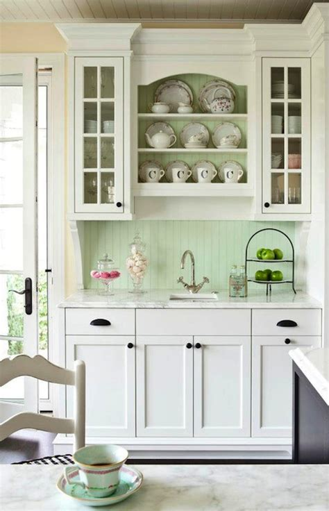 white kitchen cabinet hardware ideas beadboard backsplash cottage kitchen benjamin