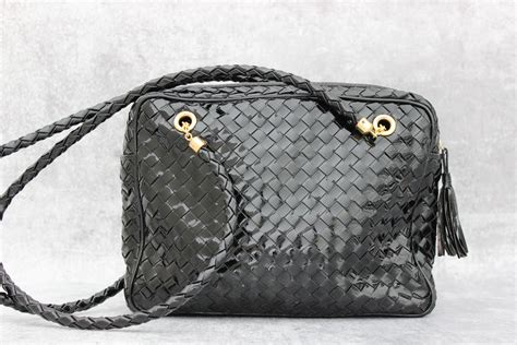 Bottega Veneta Patent Woven Envelope Purse by Bottega Veneta Patent Leather Woven Shoulder Bag At S