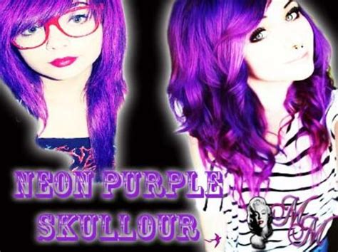 how to dye your hair neon purple 10 steps with pictures hair colourants dyes neon purple skullour hair dye