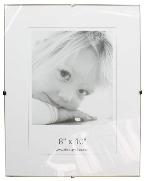 frameless 5 x 7 clip picture frame tempered glass clip picture frame wall mounting frameless design
