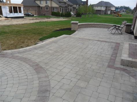 Raised Paver Patio Designs Raised Patios Contemporary Patio Detroit By Apex Landscape And Brick Services Llc