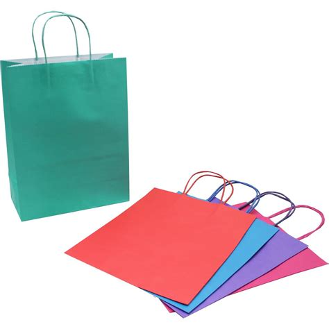 mini paper bag pattern bright ready to decorate gift bags 5 pack hobbycraft