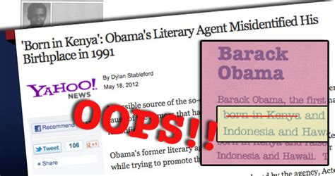 barack obama biography born in kenya oops text editor rushes out apology for kenya mistake