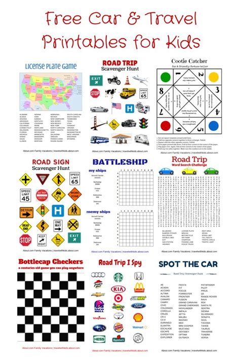 printable games for car rides 17 best images about free car travel printables on