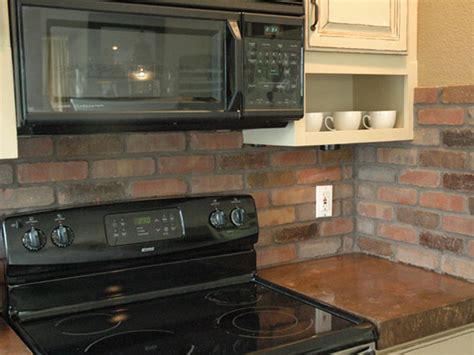 Kitchen Brick Backsplash How To Install A Brick Backsplash In A Kitchen How Tos Diy