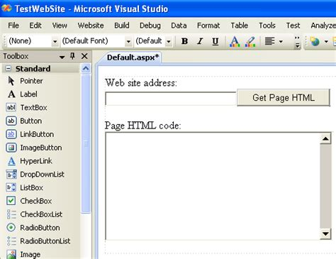 design website get html code how to read web page html code with asp net
