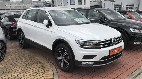 white volkswagen tiguan interior vw tiguan highline model 2017 oryx white