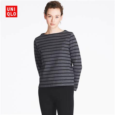 boat neck uniqlo usd 8 85 womens striped boat neck t shirt long sleeve