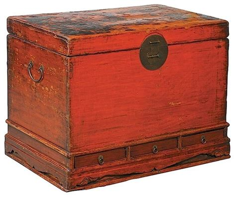 Decorative Storage Trunks And Chests by Furniture Classics Authentic Painted Antique Trunk