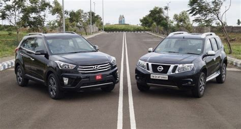Hyundai Vs Nissan by Hyundai Creta Vs Nissan Terrano Comparison 187 Motoroctane