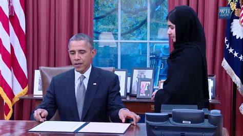 where are the obamas now obama meets malala yousafzai youtube