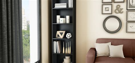 Narrow Black Bookshelf by Top 15 Narrow Bookshelf And Bookcase Collection