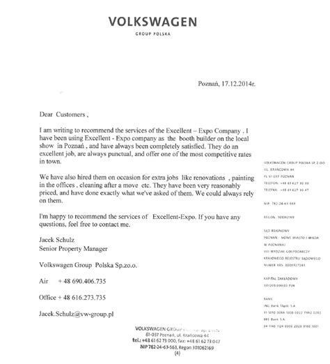 Volkswagen Customer Letter Showrooms Excellent Expo