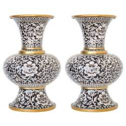 Italian Pottery Vase Pair Of Cloisonne Arabesk Vases At 1stdibs