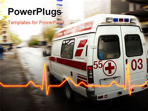 ambulance powerpoint template ambulance ppt background on services powerpoint templates