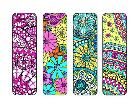 printable color in bookmarks bookmarks to color and print bookmark coloring page