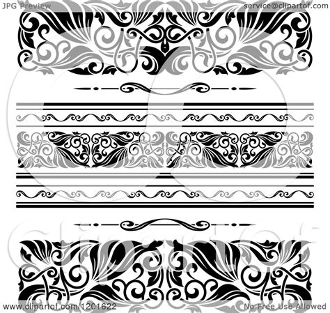 patterns black and white border clipart of ornate black and white border designs royalty