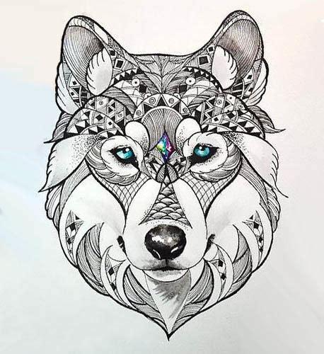 wolf head tattoos designs beautiful wolf design