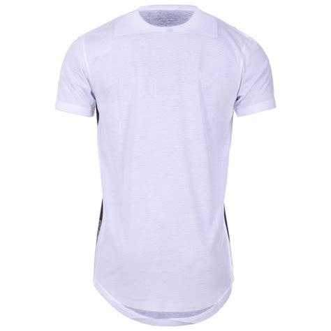 Tshirt Longline mens black uptight floral print longline t shirt