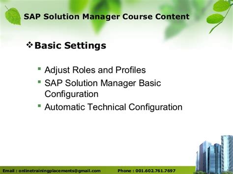 tutorial sap solution manager sap solution manager training sap solman training sap