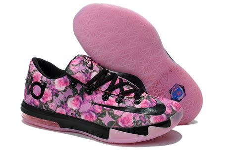 nike kevin durant kd 6 rose black pink for sale new