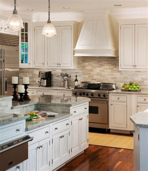 Neutral Backsplash Kitchen