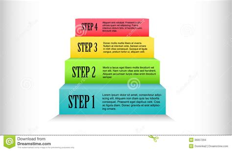 step step colorful stairs process step by step stock images image