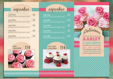 cupcake menu card template 10 psd tri fold menu templates free images tri fold