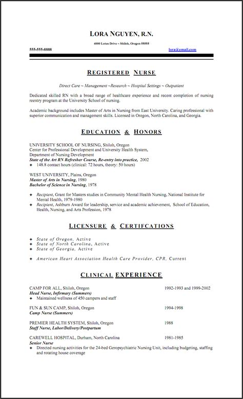 Nursing Resume by Rn Resume On Nursing Resume New Grad