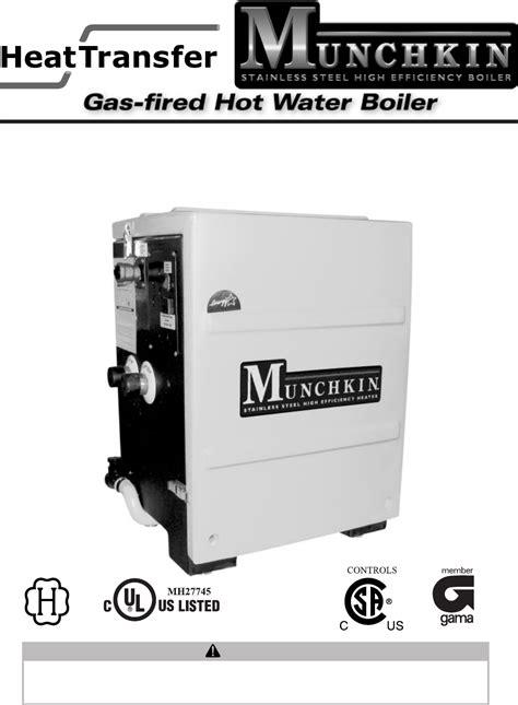 munchkin heater munchkin boiler gas fired water boiler user guide manualsonline