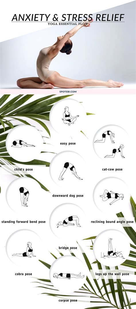 printable yoga poses for stress yoga essential flow anxiety stress relief