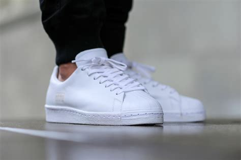 s clean adidas superstar 80s clean white sbd
