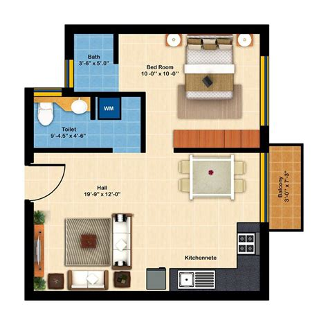 Villa Floor Plan by Kubhera Vistas 1bhk Apartments For Sale In Saravanampatti