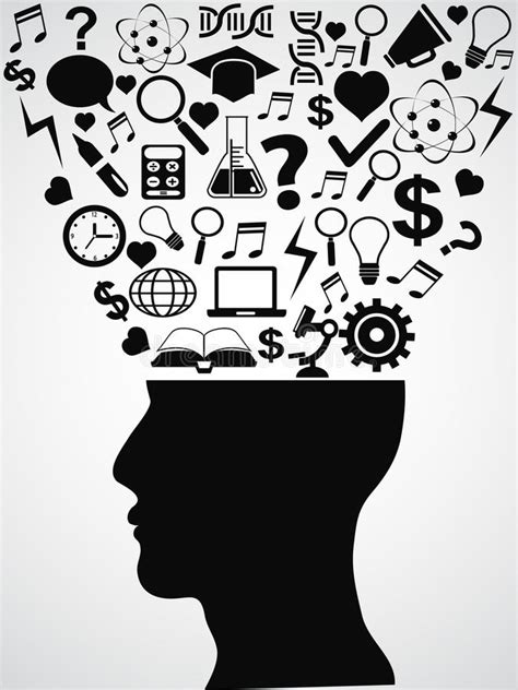 human head  creative ideas stock vector illustration