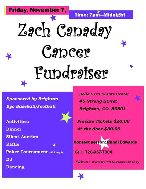 cancer fundraiser flyer template cancer benefit fundraiser flyer template pictures to pin on pinsdaddy