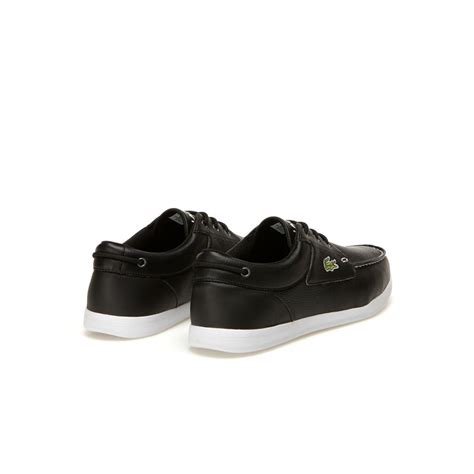 lacoste black boat shoes lacoste black black men s codecasa punched accent boat