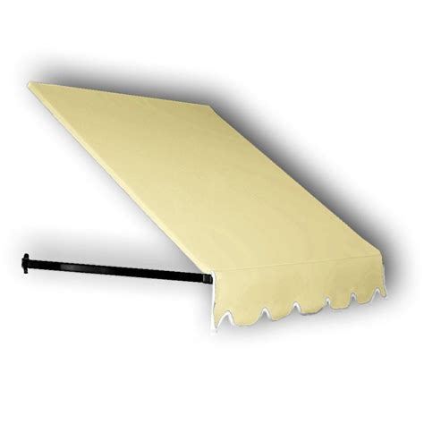 Dallas Awning by Awntech 40 Ft Dallas Retro Window Entry Awning 24 In H X 48 In D In Light Yellow Er24 40ly