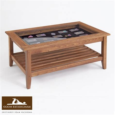 Coffee Table With Display Top Glass Display Coffee Table Uk Made From Solid American Walnut With 10mm Toughened Glass Top And