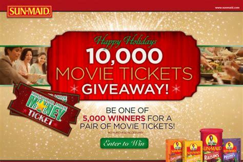 Sun Maid Movie Ticket Giveaway - sun maid 10 000 holiday movie ticket giveaway win a pair of movie tickets